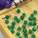 Beads, Selenial Crystal, Crystal, Dark green , Faceted Rounds, Diameter 4mm, 10 Beads, [ZZC204]